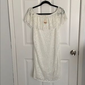 NWT Lace Off the Shoulder Maternity Dress